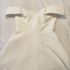 White BCBG dress
